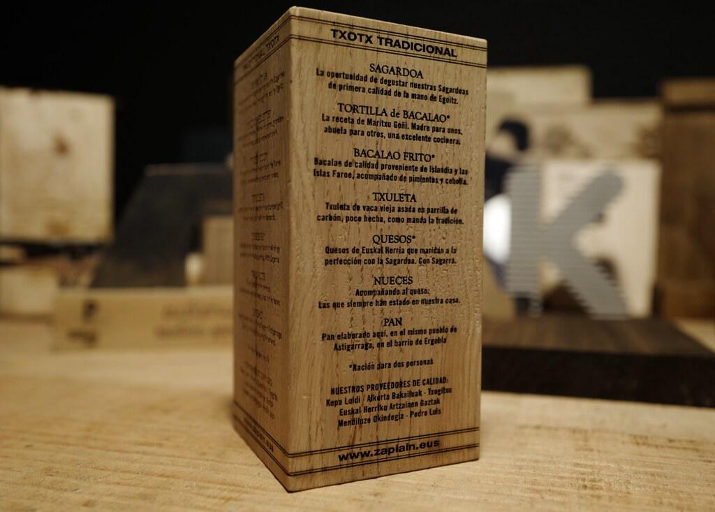 Menu taco madera taco de roble macizo grabado por l ser - Maderas menur ...