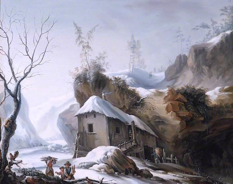 Snowy Landscape by Francesco Foschi, c.1770