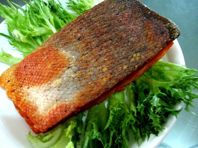 Salmon, served