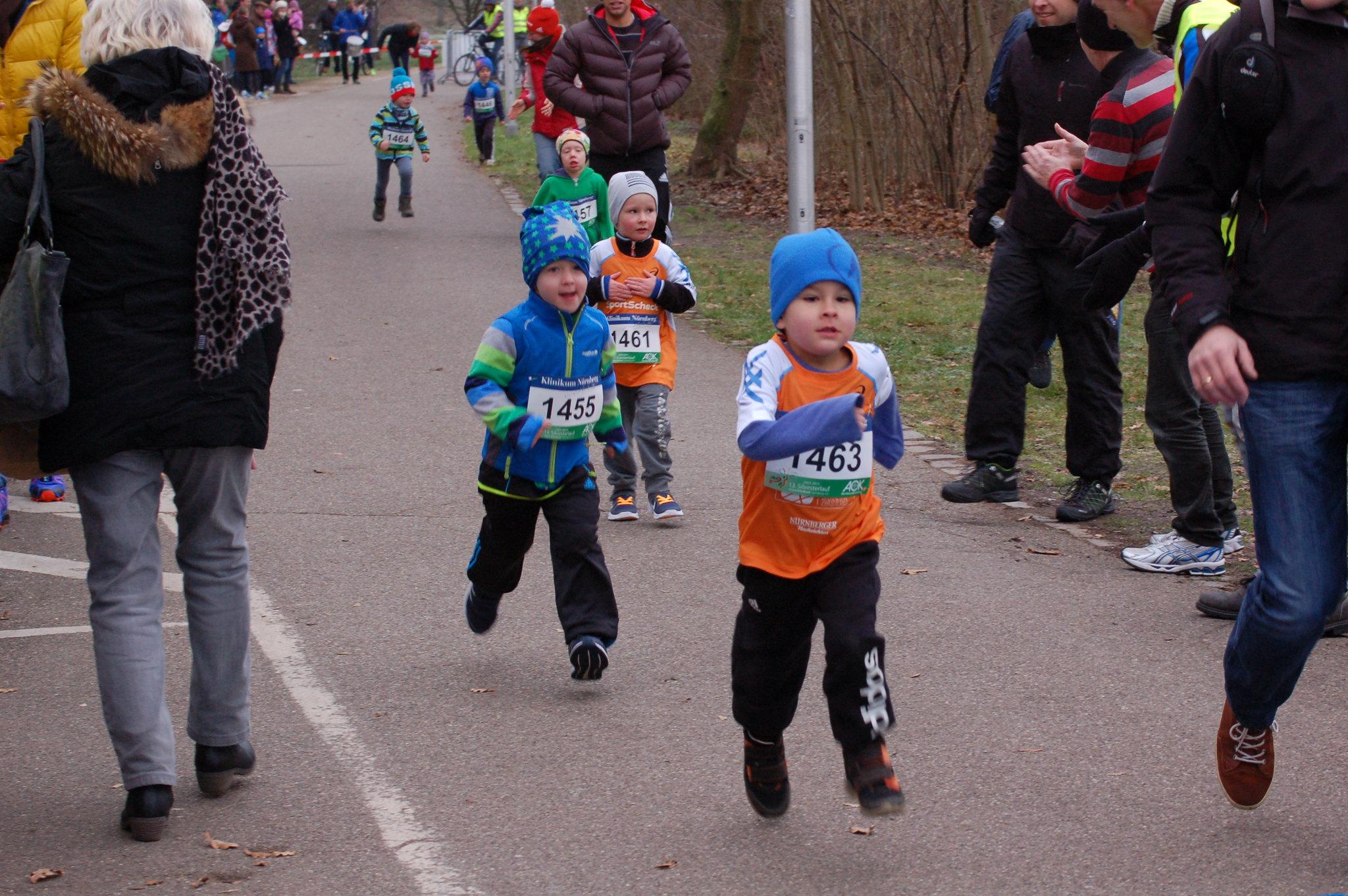 Ziel Bambinis Silvesterlauf Nürnberg