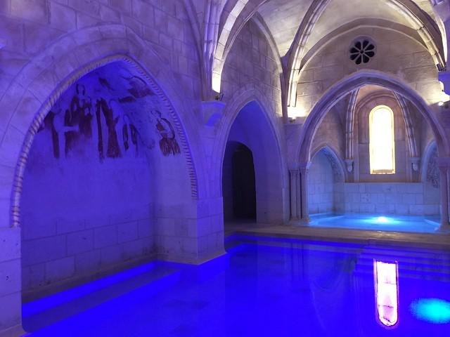 Zona de contrastes del balneario Monasterio de Valbuena (Capilla de San Pedro)