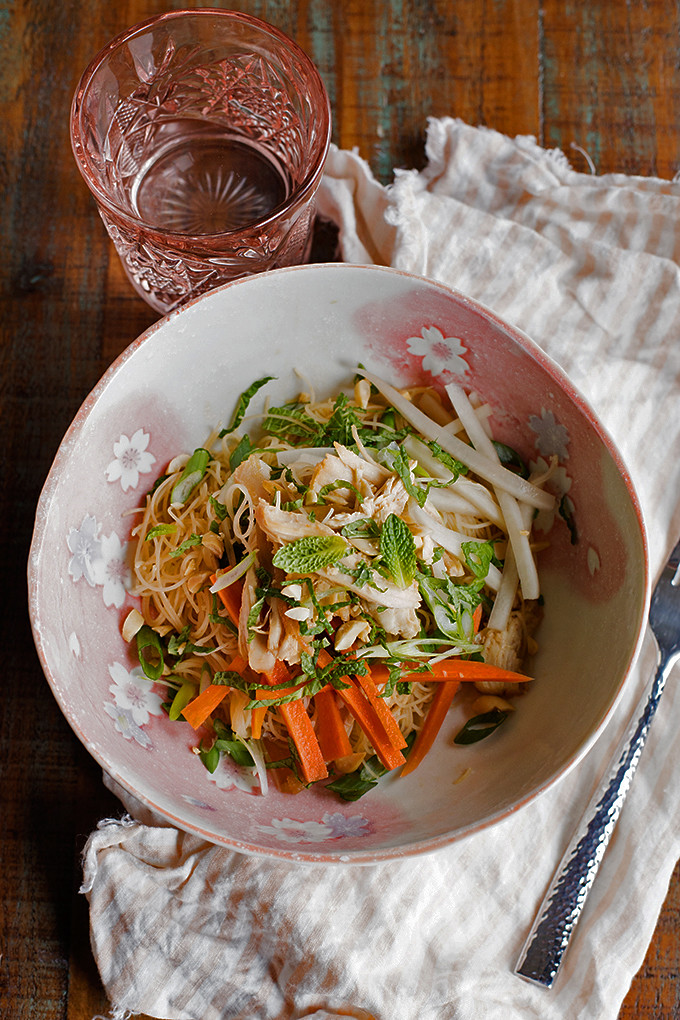 Vietnamese-Inspired Noodle Salad with Chicken & Mint