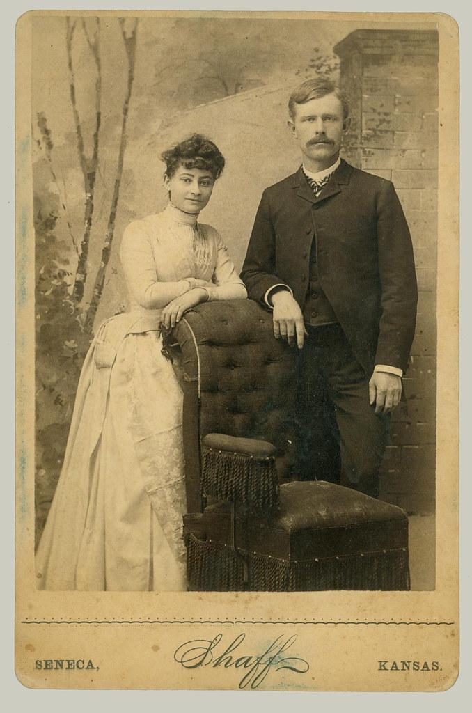 Citaten Seneca Ks : Cabinet card couple photographer shaff seneca kansas