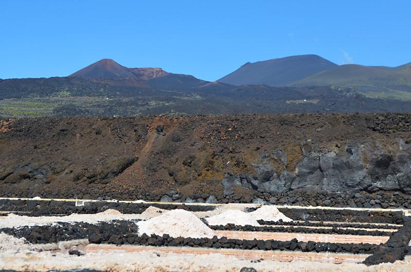 Volcanic landscape, Las Salinas, Fuencaliente, La Palma