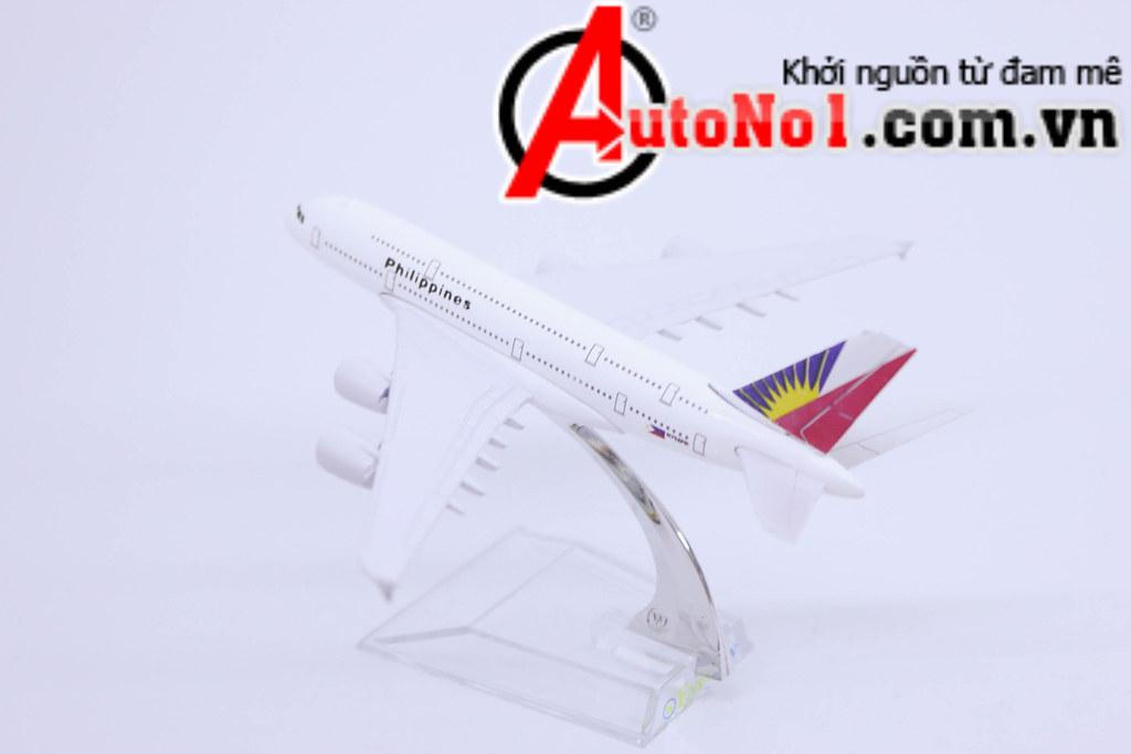MÔ HÌNH MÁY BAY A380 PHILIPINES AIRLINES 16CM EVERFLY