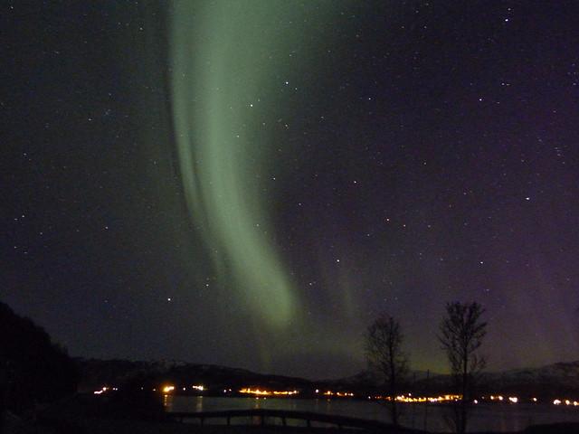 Aurora boreal en Laponia Noruega