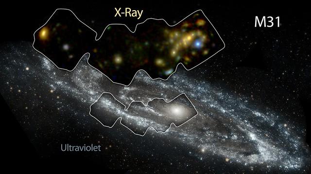 VCSE - Androméda-galaxis ultraibolya és röntgen tartományban - NASA, NuSTAR