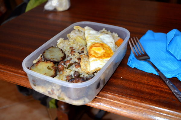 Rice & beans lunch, Santo Antao, Cape Verde