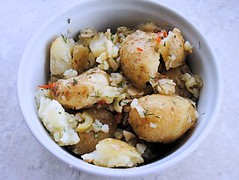 Crushed new potatoes