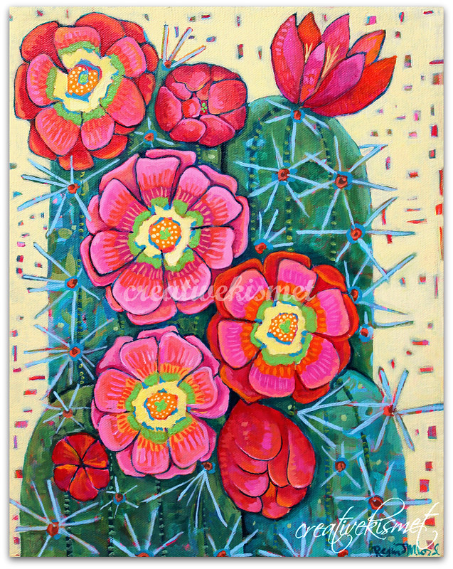 Fiesta, Cactus Blooms - Art by Regina Lord