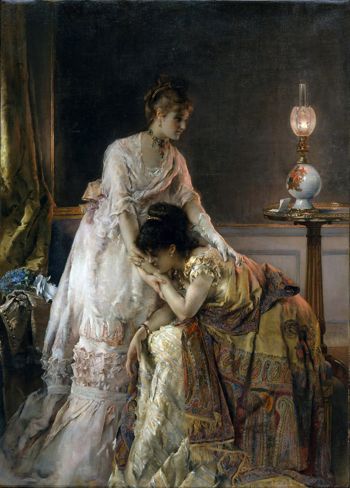 After the Ball by Alfred Stevens, 1873