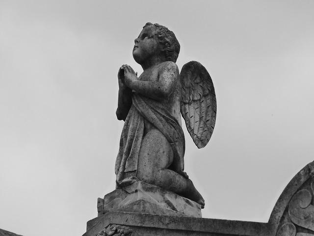 Angelote en el Cementerio de los Placeres de Lisboa