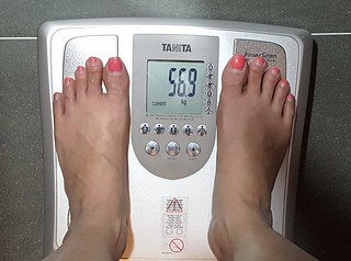 My weight before I started my first session at Absolute Slimming.