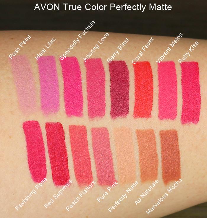 Avon True Color Perfectly Matte lipsticks – Ria G – Beauty ...