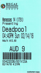 Deadpool ticketstub