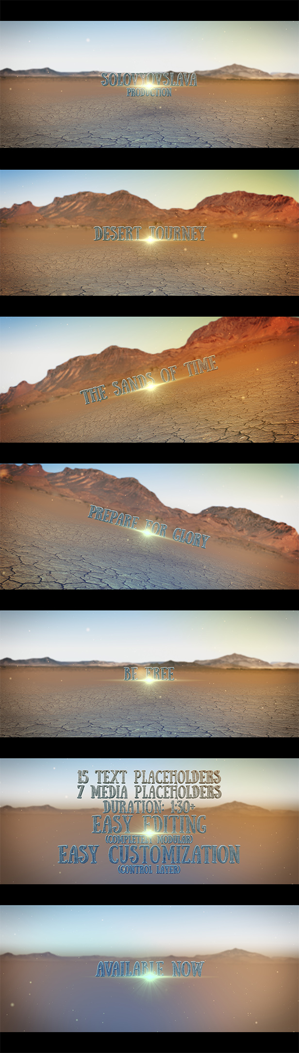 Desert Journey Trailer Titles