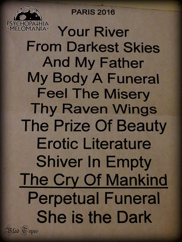 Set-list My Dying Bride @Nouveau Casino, Paris 06/04/2016