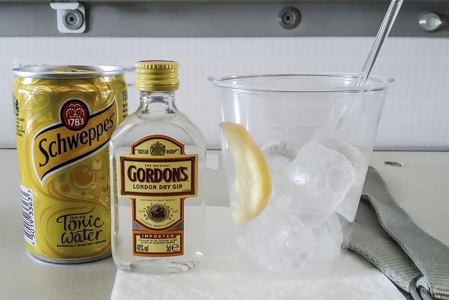 Gin Tonic bei British Airways