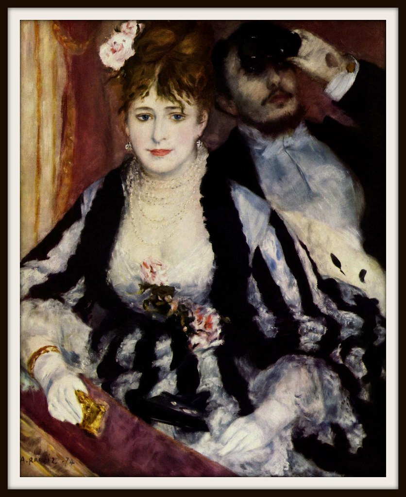 The Theatre Box by Pierre-Auguste Renoir, 1974.
