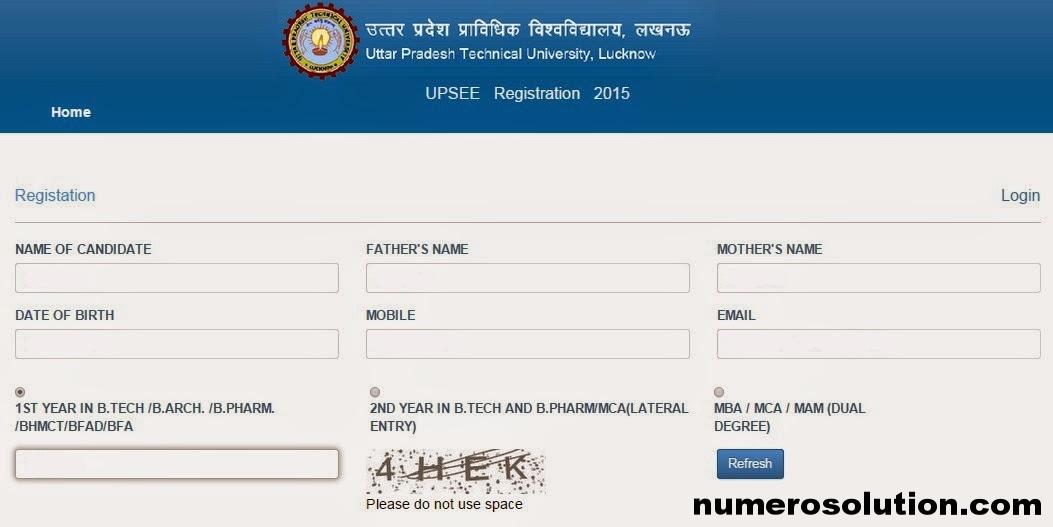 UPSEE Application Form