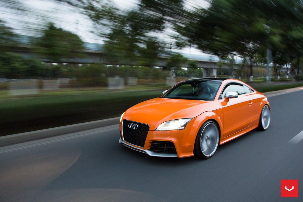 Audi Tt Rs Solar Orange Vossen Vfs 1 Wheels Top Stat