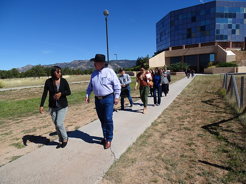 "Arthur ""Butch"" Blazer and colleagues on a tour of Diné College in Tsaile, Arizona"
