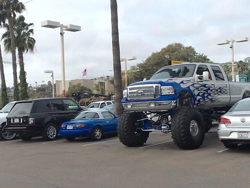 Giant meathead truck