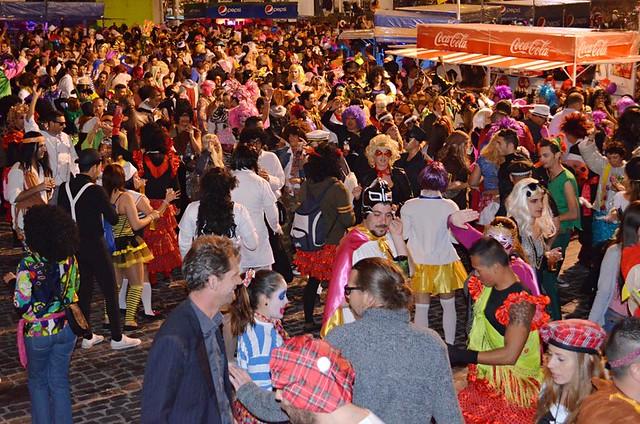 Standing out at a Carnival street party, Puerto de la Cruz, Tenerife