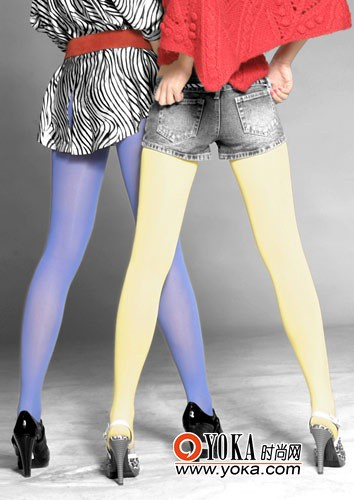 Skillfully taking color pantyhose Mix spring legs