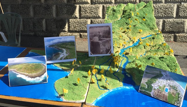 比西里岸部落立體地圖。攝影:李昀