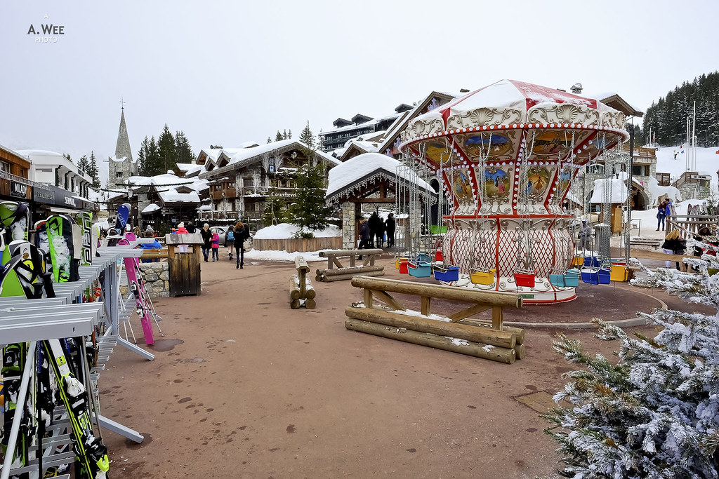 Carousel in the village
