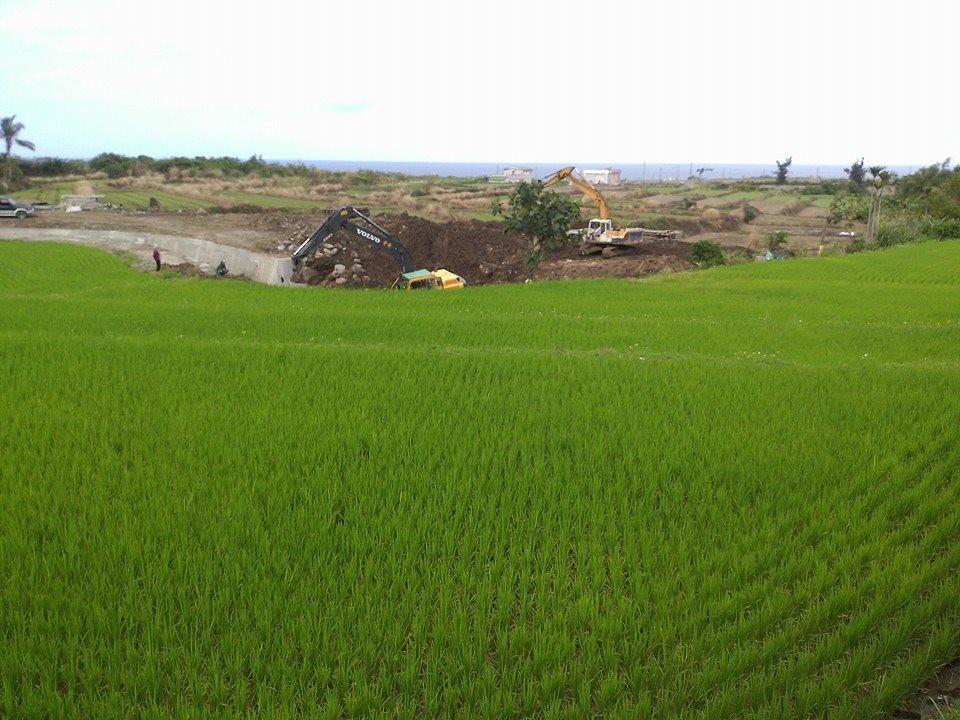 春分過後,下田區的工程還在進行