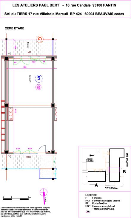 Les Ateliers Pault Bert - Plan de vente - Lot 61