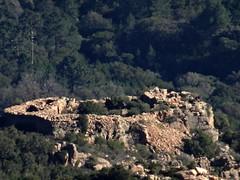 Le casteddu d'Araghju au zoom depuis la télévision du Casteddu Muratu