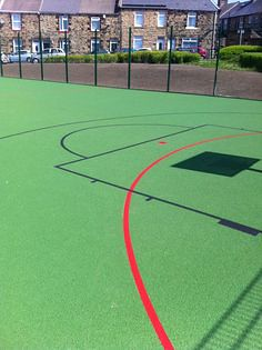 Basketball court con from soft surfaces for Basketball court cost estimate