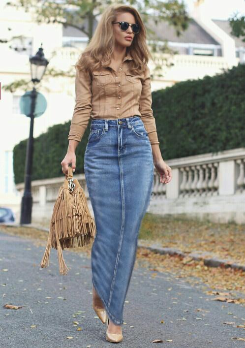 a wonderful denim hobble skirt this is so lovely but i