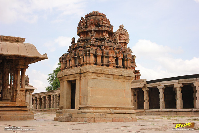 Free standing shrine in Krishna temple complex in Hampi, Ballari district, Karnataka, India