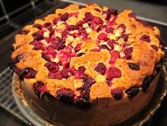Raspberry or cherry cake