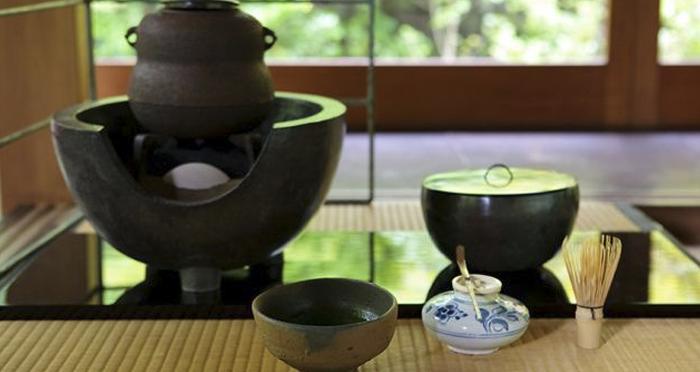 Como é realizada a cerimônia do chá?