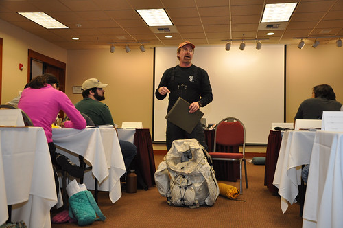 Brian Horner teaching students at USDA's Westwide Snow Survey Training