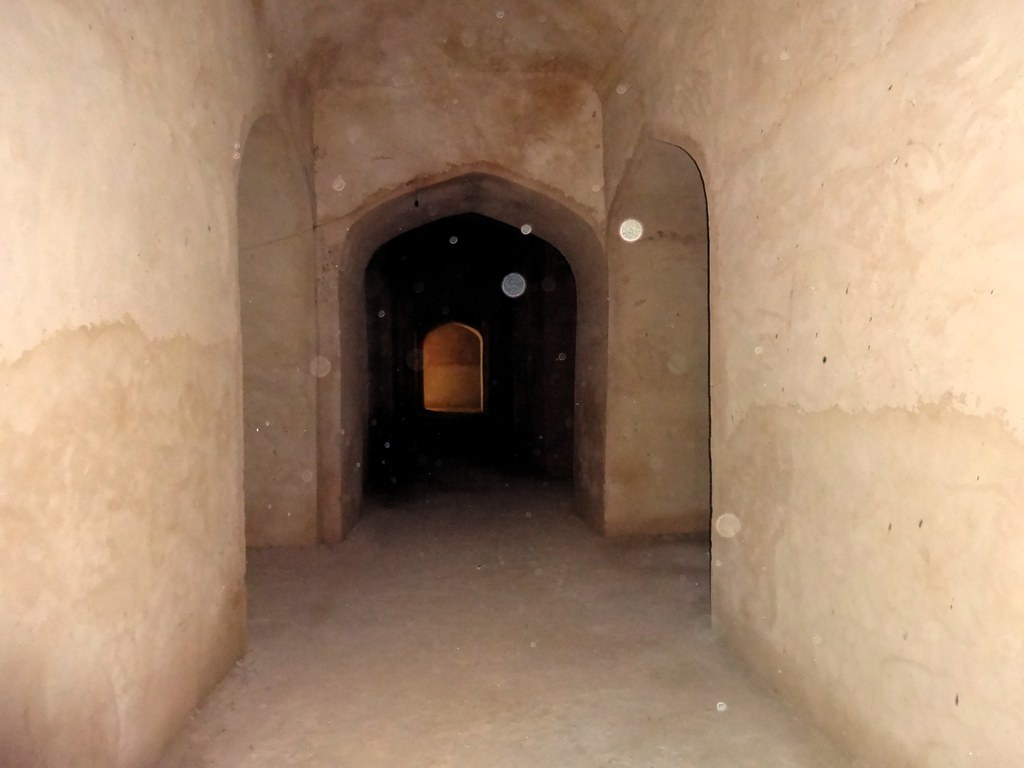 The chambers under the water tank which housed the army and horses, are naturally cool.