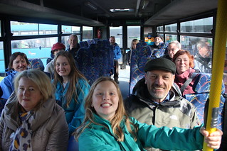 The Tour Group in their bus