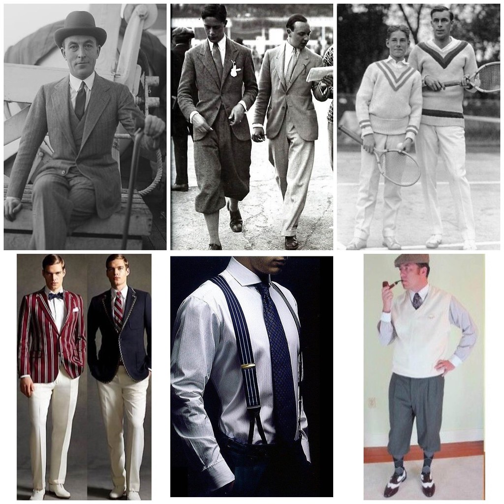 мужская мода 20-х стилизация