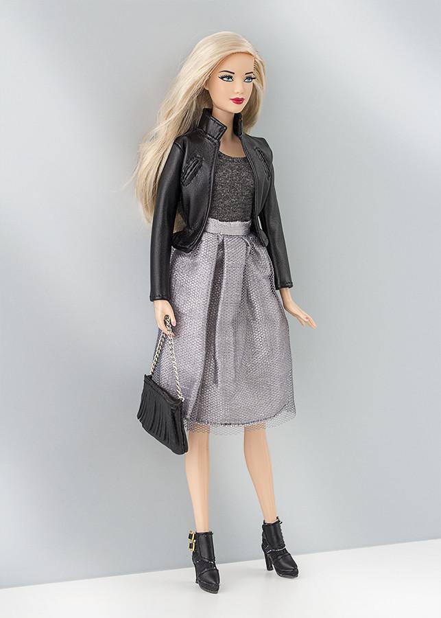 cazadora cuero barbie