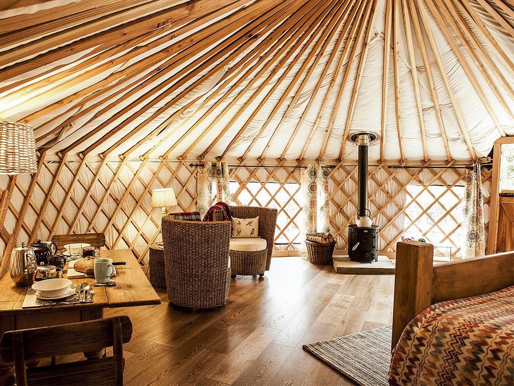 Inside A Luxury Yurt The Interior Of Rowan Yurt