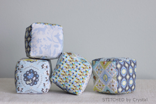 STITCHED by Crystal: Plush Blocks for Baby