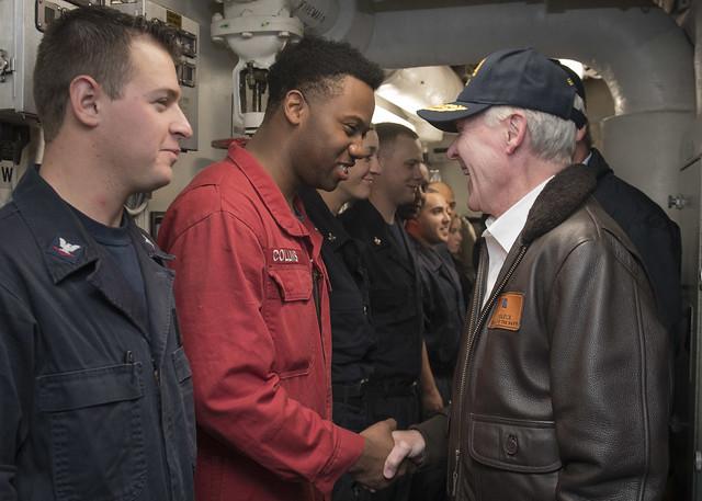 SECNAV, SECAG Visit USS Willaim P. Lawrence