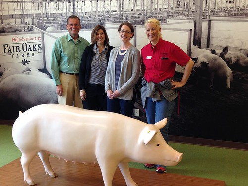 (Left to right) Dr. Craig Morris, Deputy Administrator, Livestock, Poultry, and Seed Program; Angie Snyder, Associate Deputy Administrator, Livestock, Poultry, and Seed Program; Administrator Starmer; and Jamie Mitchell from Fair Oaks Farms