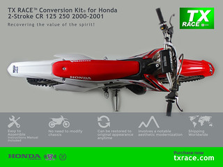TX RACE™ Conversion Kit® for Honda 2-Stroke CR 125 250 2000 2001