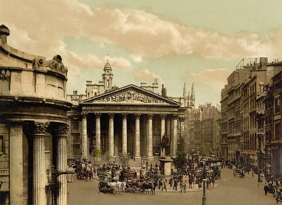 Royal Exchange, London, c.1890.